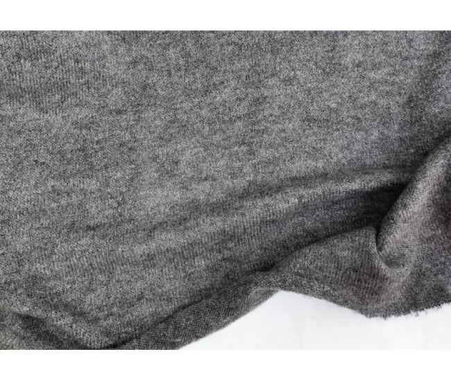 Вязаный трикотаж, цвет серый меланж