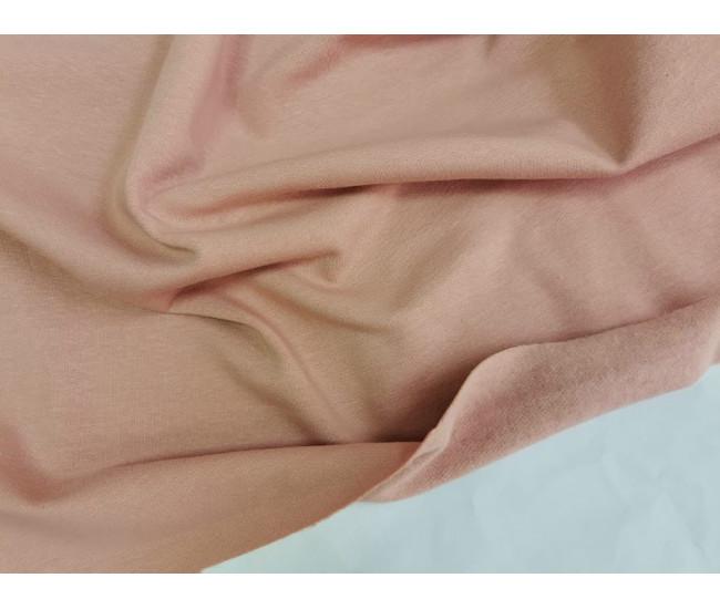 Хлопковый футер с начесом, цвет розовый кварц