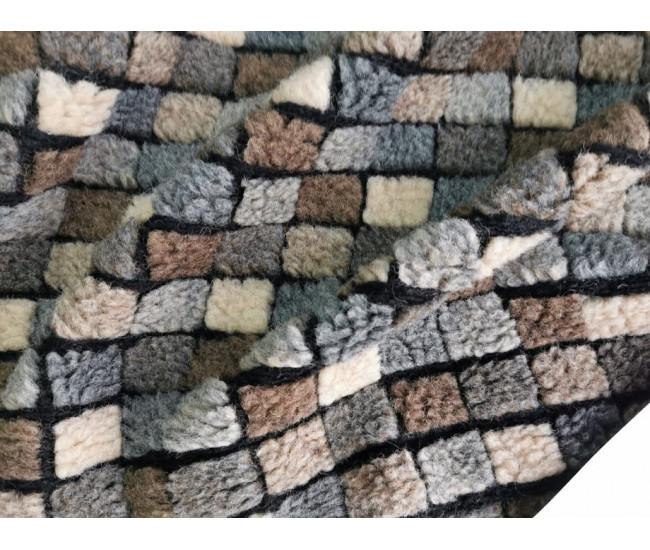Пальтовый фактурный шерстяной трикотаж