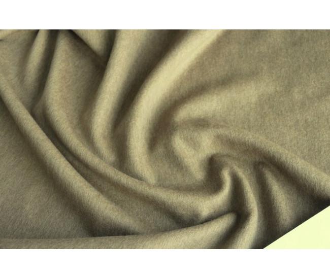 Пальтовая ткань с ворсом , цвет оливково-бежевый.