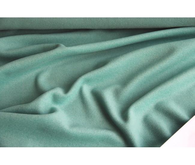 Пальтовая ткань с кашемиром 10%, цвет мятно-бирюзовый.