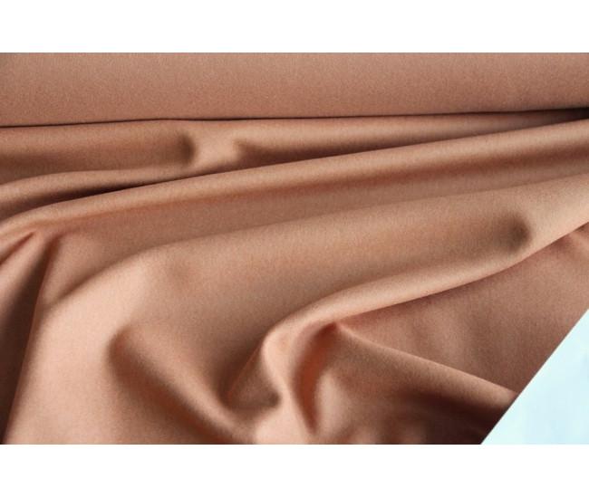 Пальтовая ткань с кашемиром 5%, цвет абрикосовый.
