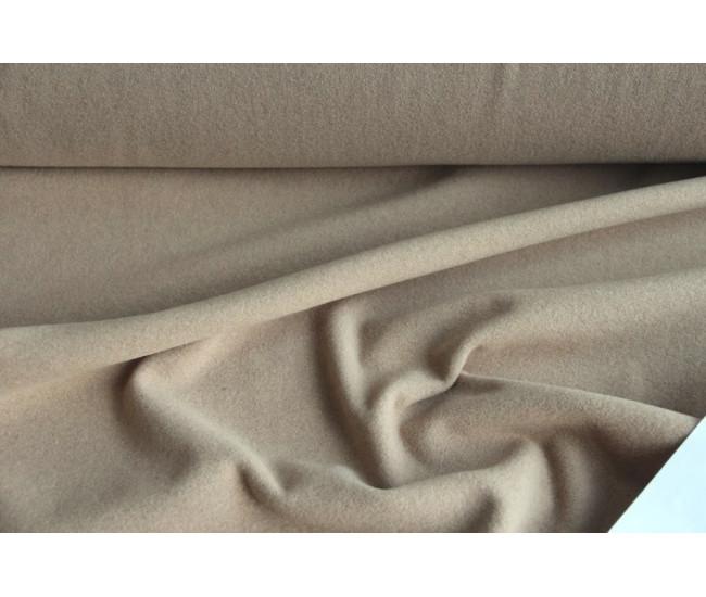 Пальтовая ткань, цвет бежевый.
