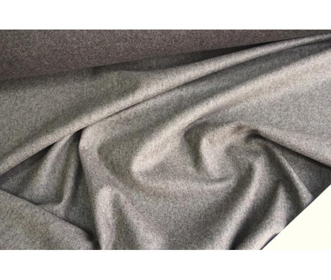 Пальтовая двусторонняя ткань, цвет бежево-шоколадный меланж.