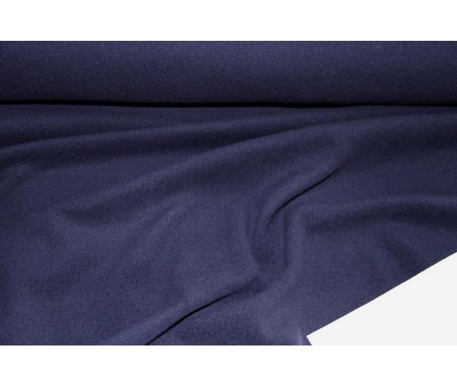 Пальтовая ткань с кашемиром 5%, цвет чернильный.