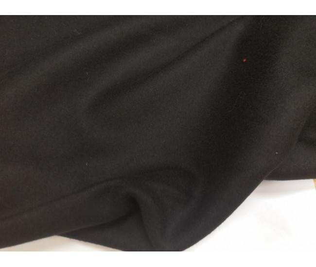 Пальтовая ткань типа сукна, цвет  чёрный.отрез 2,1м