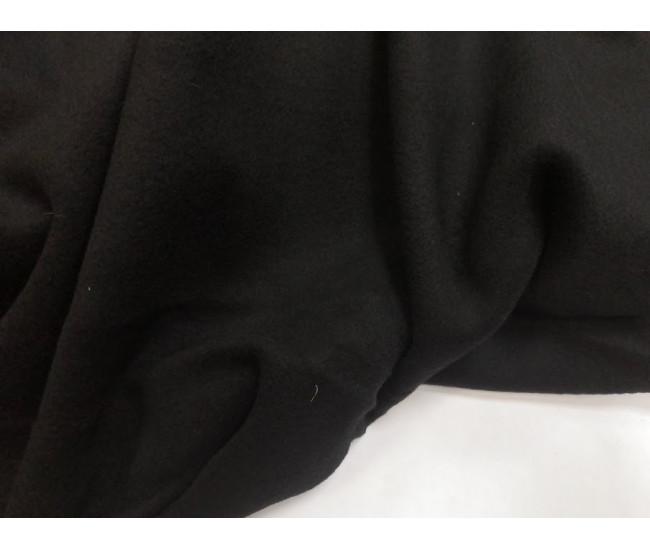 Пальтовая ткань, цвет чёрный, в наличии отрез 2.9м