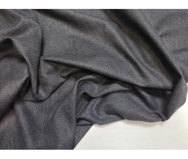 Костюмно-плательный твид , цвет серо-синий, отрез 3.6м