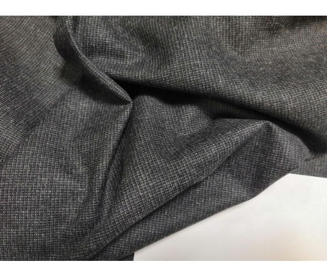 Костюмно-плательная ткань, мелкий жаккардик, отрез 2.45м,  цвет фона серый,