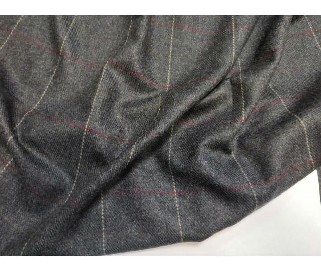 Костюмно-плательная фланель, фактура диагональный рубчик, отрез 1.9м.