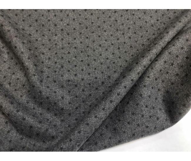 Костюмно-плательная фланель с печатью, отрез 2,25м.
