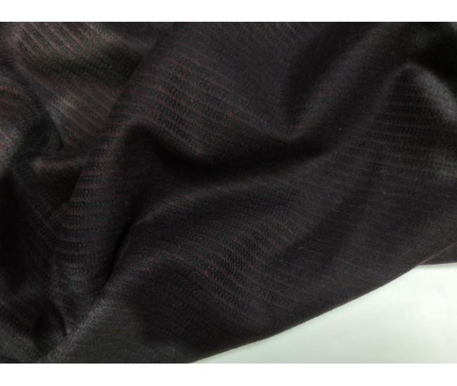 Костюмно-плательная фактурная ткань, в диагональный рубчик, цвет баклажан,
