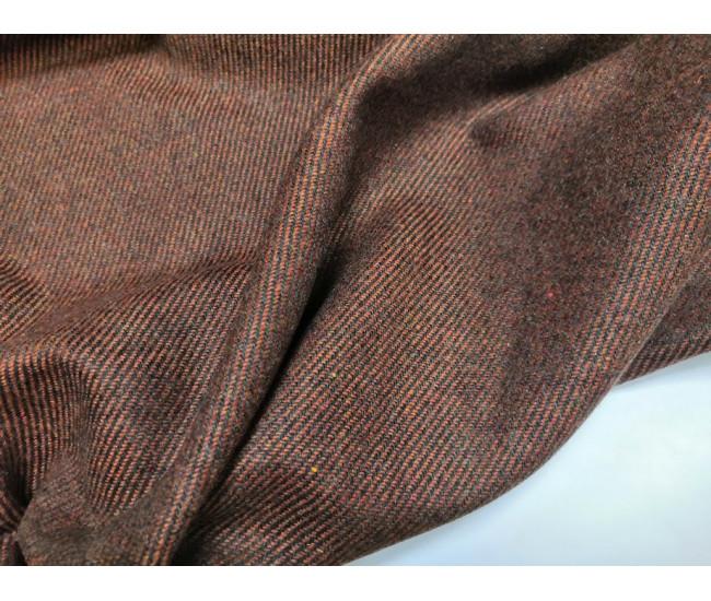 Костюмно-плательная фактурная ткань, в диагональный рубчик