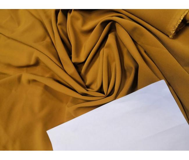 Костюмно-плательная ткань, цвет т. Горчица, отрез 3.8м