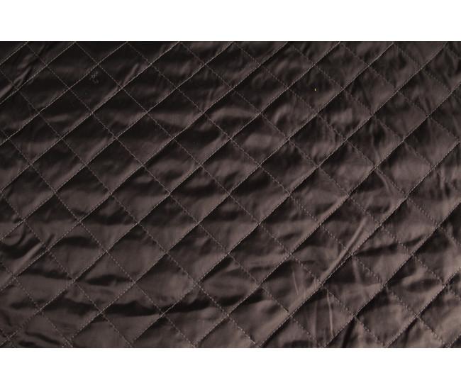 Стеганая ткань  на тинсулейте , цвет черный