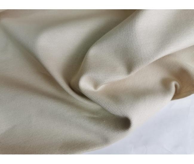 Жаккардовый костюмно-плательный трикотаж - джерси. Цвет слоновая кость.Остаток 1,0м.