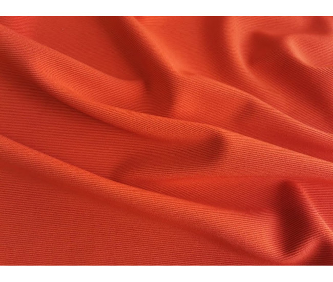 Жаккардовый костюмно-плательный трикотаж - джерси. Цвет оранжевый манго.