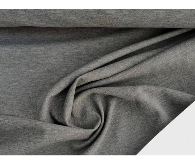 Костюмно-плательный  трикотаж пунтомилано. Цвет серый меланж.