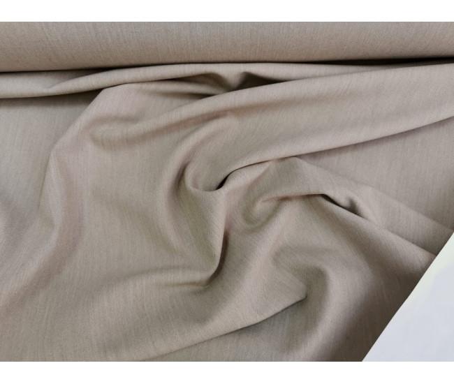 Костюмно-плательная  шерсть стрейч,  цвет бежевый меланж,