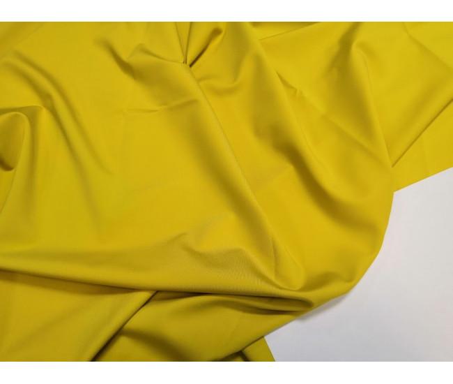 Костюмно-плательный  трикотаж пунтомилано Max Mara. Цвет жёлтый с горчичной ноткой.