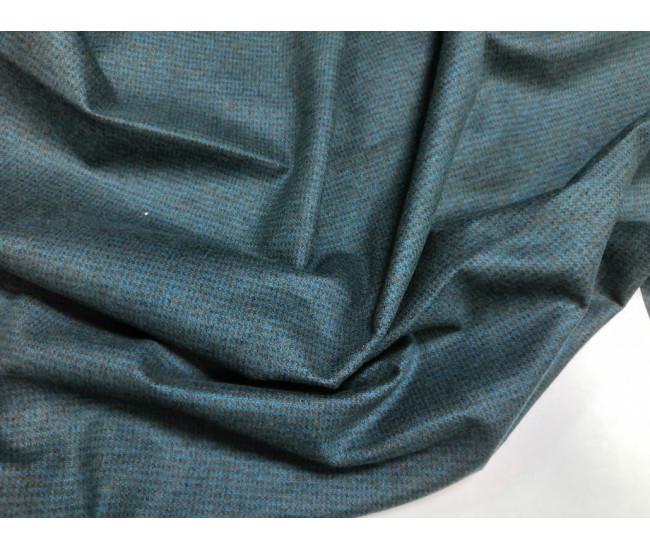 Жаккардовый костюмно-плательный трикотаж-джерси.  цвет морская волна.