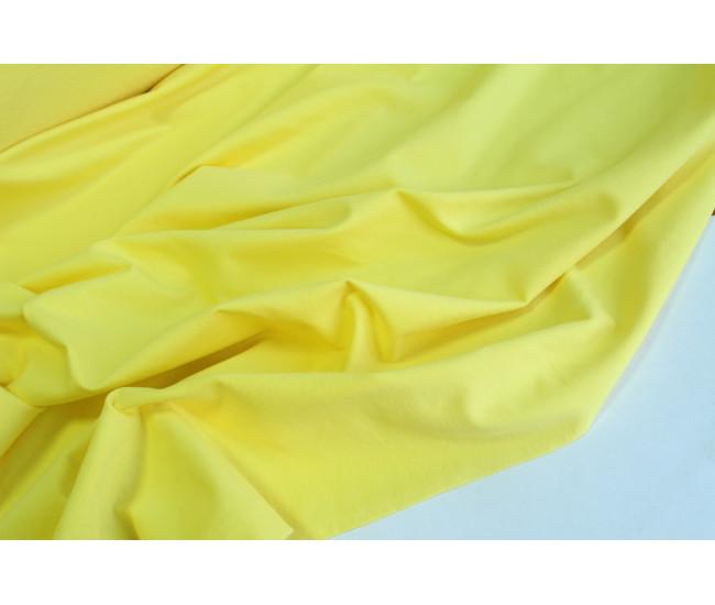 Хлопковый футер,изнанка петля,  цвет желтый