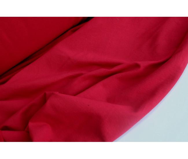 Хлопковый футер,изнанка петля,  цвет красный
