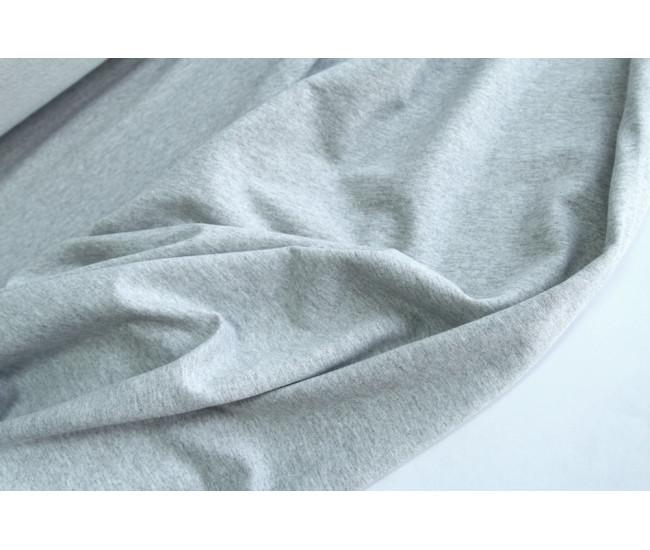 Хлопковый футер,изнанка петля,  цвет серый меланж