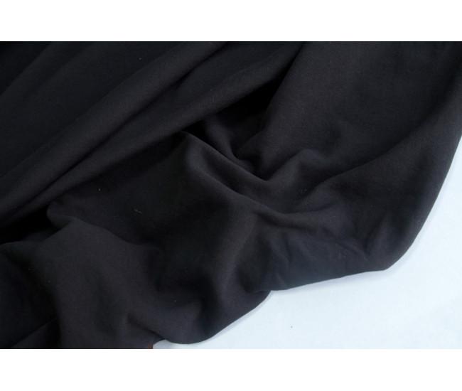 Хлопковый футер ,изнанка петля,  цвет черный
