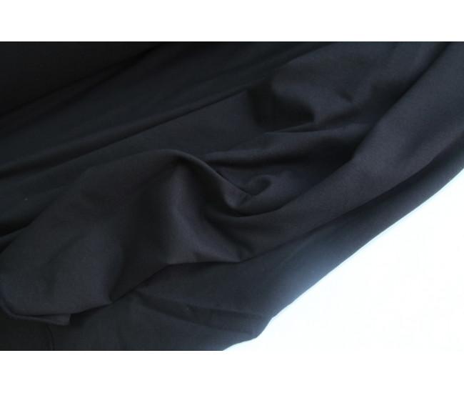 Хлопковый футер ,изнанка петля,  цвет чёрный