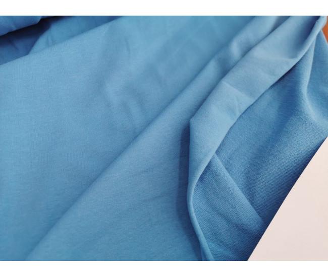 Хлопковый футер изнанка петля цвет голубой