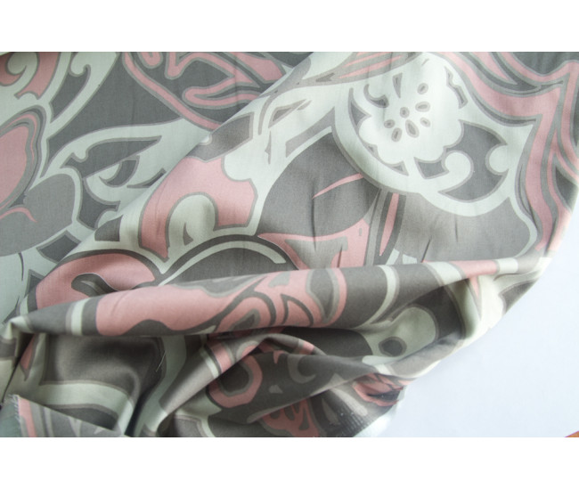 Костюмно-плательный хлопок стрейч с печатью