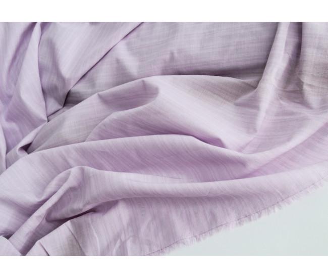 Плательно-рубашечный тонкий хлопок в полоску,  цвет сиренево-серый Остаток 2,3м.