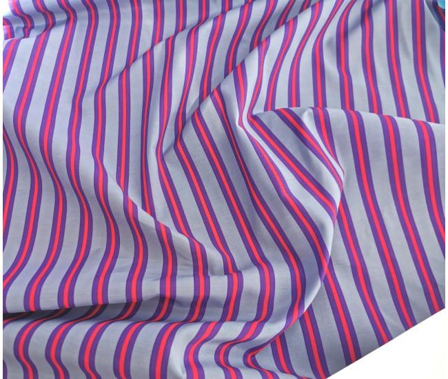 Плательно-рубашечный  хлопок с печатью ,  фон серо-голубой