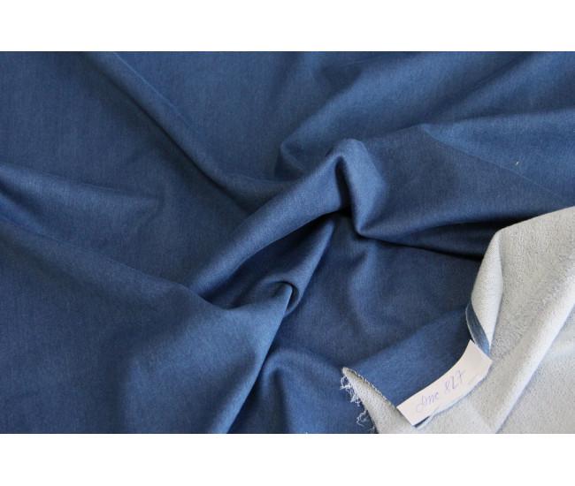 Вареная джинса стрейч, изнанка петелька.