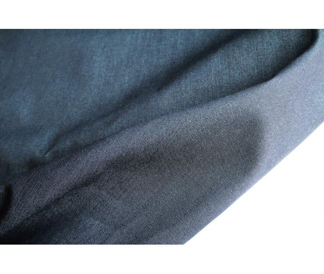 Джинса  японского производителя Kurabo,  цвет синий меланж( с изнанки с  бежево-оливковым оттенком)