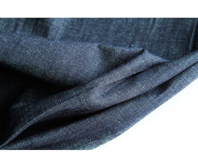 Джинса  японского производителя Kurabo,  цвет темно-синий