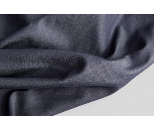 Рубашечно-плательная  джинса.   Цвет чернильный.