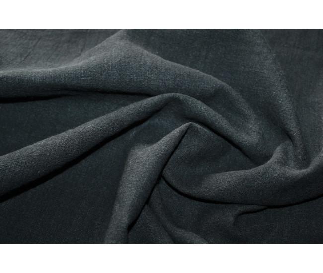 Костюмно-плательная вареная крапива,цвет черный