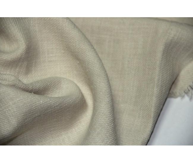 Костюмно-плательная конопля (100%),  цвет светло бежевый, оттенок приглушенный.