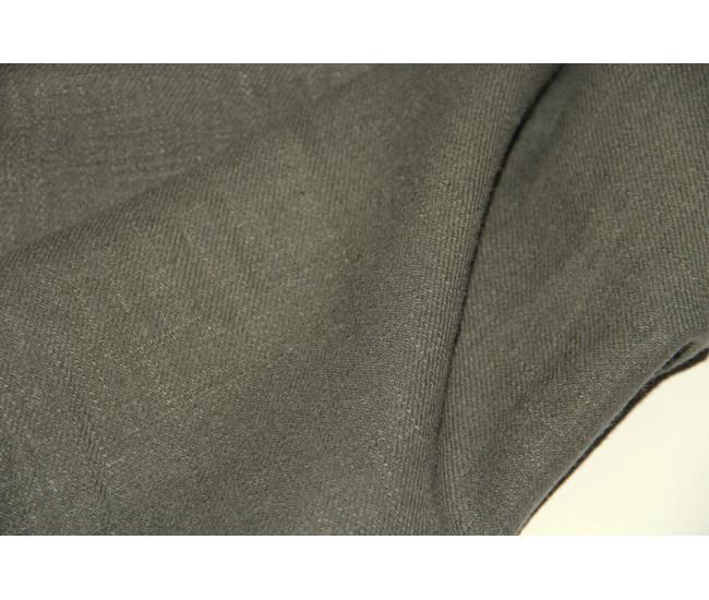 Костюмно-плательная конопля (100%),  цвет хаки, оттенок приглушенный.