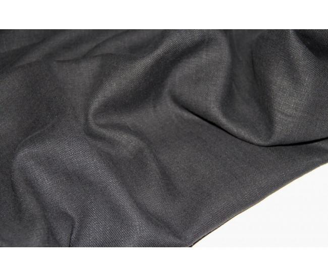 Костюмно-плательная конопля (100%),   цвет чёрный,оттенок приглушенный.