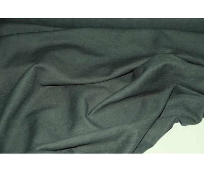 Костюмно-плательная ткань (конопля 50%-вискоза 50%) , цвет бутылочный