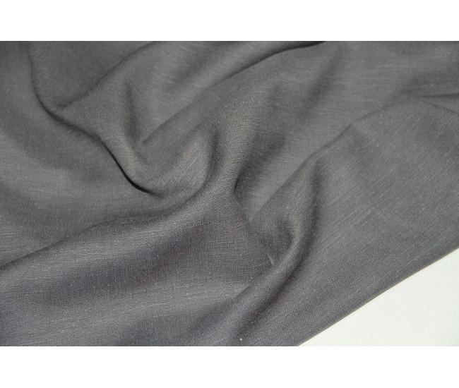 Костюмно-плательная ткань (конопля 50%,вискоза 50%), цвет  серый