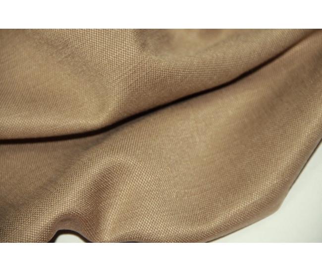 Костюмно-плательная ткань (конопля 50%,вискоза 50%), цвет  песочный.