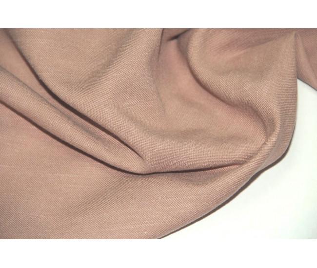 Костюмно-плательная ткань (конопля 50%,вискоза 50%), цвет  увядшая роза