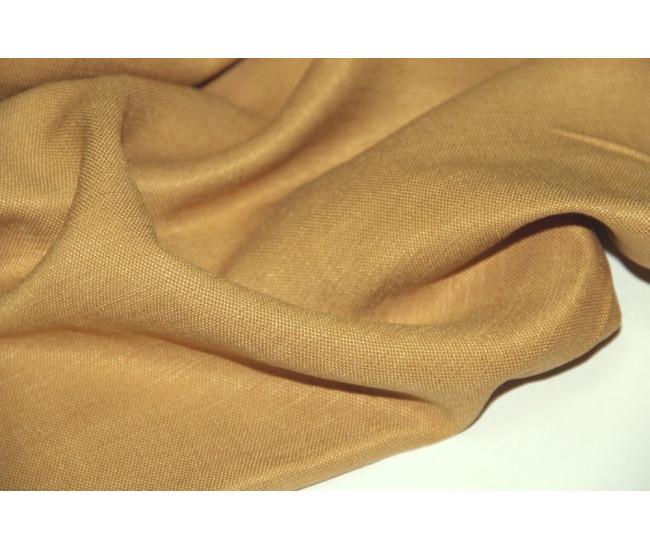 Костюмно-плательная ткань (конопля 50%,вискоза 50%), цвет  яркая горчица