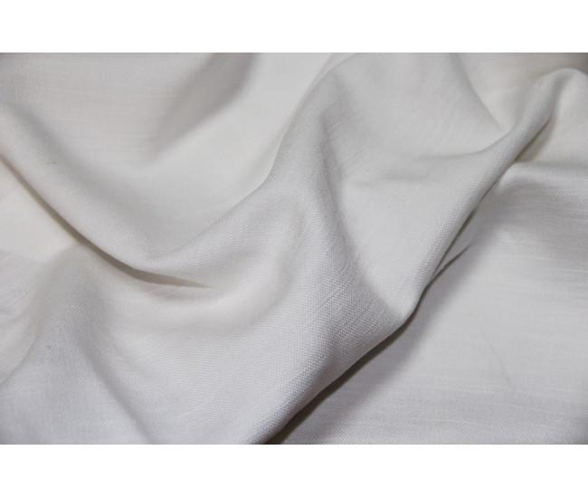 Костюмно-плательная ткань (конопля 50%,вискоза 50%),   цвет  белый