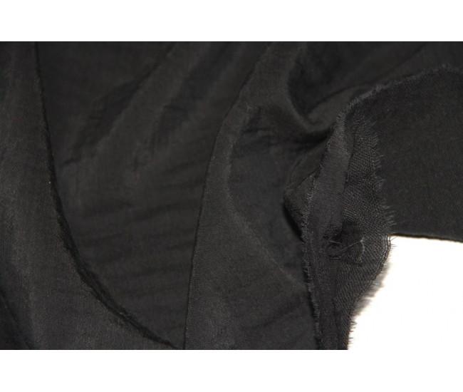 Костюмно-плательная двухслойная ткань,слои разделяются,    (тенсель 40%,лен 30%,хлопок 30%),   цвет чёрный