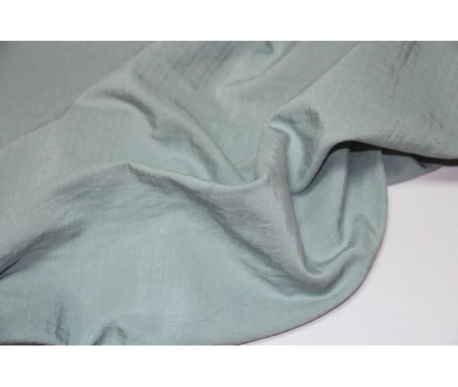 Костюмно-плательная двухслойная ткань,слои разделяются,    (тенсель 40%,лен 30%,хлопок 30%),   цвет мята